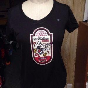 Run Disney Women's Wine And dine 2013 shirt new S